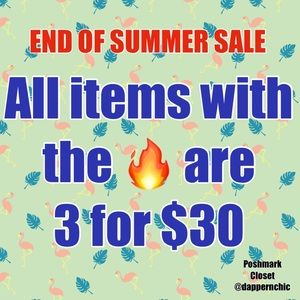 3 For $30 End Of Summer Sale